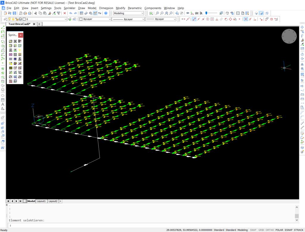 Isometric view SpriCAD BricsCAD